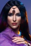 Όμορφο κορίτσι με το αραβικό makeup Στοκ εικόνες με δικαίωμα ελεύθερης χρήσης