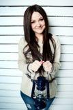 Όμορφο κορίτσι με το φανάρι Στοκ φωτογραφίες με δικαίωμα ελεύθερης χρήσης