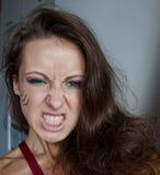 Όμορφο κορίτσι με το φυλετικό makeup Στοκ Εικόνες
