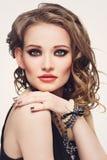 Όμορφο κορίτσι με το makeup στοκ φωτογραφία