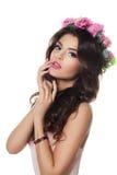 Όμορφο κορίτσι με Prom Hairstyle και τέλειο Makeup στοκ εικόνα με δικαίωμα ελεύθερης χρήσης