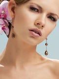 όμορφο κορίτσι μοντέρνο Στοκ Φωτογραφίες