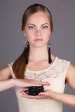 όμορφο κορίτσι μπλε ματιών Στοκ φωτογραφία με δικαίωμα ελεύθερης χρήσης