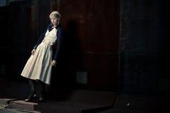 όμορφο κορίτσι μόδας υπαί&theta Στοκ Εικόνες
