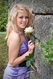 Όμορφο κορίτσι, ξανθό Στοκ Φωτογραφία