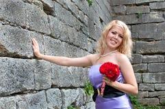 Όμορφο κορίτσι, ξανθό Στοκ Εικόνες