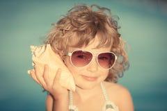 όμορφο κορίτσι παραλιών Στοκ φωτογραφία με δικαίωμα ελεύθερης χρήσης