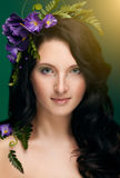 Όμορφο κορίτσι πορτρέτου άνοιξη Στοκ φωτογραφίες με δικαίωμα ελεύθερης χρήσης
