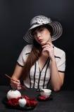 όμορφο κορίτσι προκλητι&kappa Στοκ Φωτογραφίες