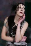 Όμορφο κορίτσι πτερυγίων Στοκ Φωτογραφία