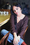 όμορφο κορίτσι ράβδων Στοκ Εικόνες
