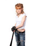 όμορφο κορίτσι ροπάλων Στοκ φωτογραφία με δικαίωμα ελεύθερης χρήσης