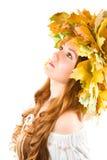 όμορφο κορίτσι ρωσικά πτώσ&eta Στοκ εικόνες με δικαίωμα ελεύθερης χρήσης