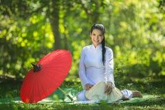 Όμορφο κορίτσι στο Βιετνάμ Στοκ Φωτογραφία