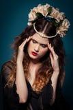 Όμορφο κορίτσι στο στούντιο, αναγέννηση Στοκ Φωτογραφία