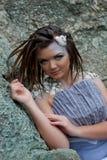 Όμορφο κορίτσι στην παραλία Στοκ Φωτογραφίες