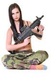 όμορφο κορίτσι στρατού Στοκ Φωτογραφία