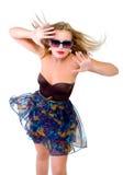 όμορφο κορίτσι συγκίνηση&si Στοκ φωτογραφία με δικαίωμα ελεύθερης χρήσης