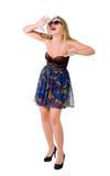 όμορφο κορίτσι συγκίνηση&si Στοκ Εικόνα