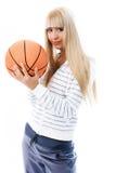 όμορφο κορίτσι σφαιρών Στοκ φωτογραφία με δικαίωμα ελεύθερης χρήσης