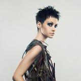 όμορφο κορίτσι φορεμάτων &alph Στοκ Εικόνα