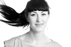 όμορφο κορίτσι φωτογραφ&iota Στοκ φωτογραφίες με δικαίωμα ελεύθερης χρήσης