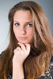 όμορφο κορίτσι brunette προκλητ&io Στοκ Εικόνα