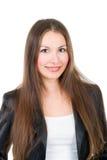 όμορφο κορίτσι brunette προκλητ&io στοκ φωτογραφία