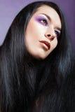 Όμορφο κορίτσι Brunette. Υγιής μακρυμάλλης Στοκ εικόνα με δικαίωμα ελεύθερης χρήσης