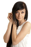 όμορφο κορίτσι brunette στοκ εικόνα με δικαίωμα ελεύθερης χρήσης