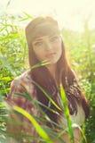 Όμορφο κορίτσι hippie Στοκ Φωτογραφίες