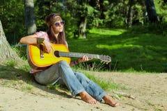Όμορφο κορίτσι hippie Στοκ φωτογραφίες με δικαίωμα ελεύθερης χρήσης