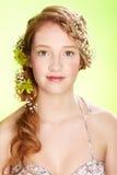 όμορφο κορίτσι redhead στοκ φωτογραφίες
