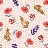Όμορφο κρητιδογραφιών άνευ ραφής διάνυσμα σχεδίων άνθισης floral, Flowe ελεύθερη απεικόνιση δικαιώματος