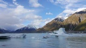 Όμορφο κρύο παγωμένο τοπίο στη Νέα Ζηλανδία στοκ εικόνες