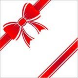 όμορφο κόκκινο δώρων τόξων Στοκ εικόνα με δικαίωμα ελεύθερης χρήσης