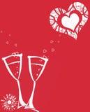 όμορφο κόκκινο καρτών ανα&sigma Στοκ εικόνες με δικαίωμα ελεύθερης χρήσης