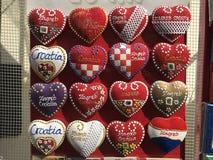 όμορφο κόκκινο καρδιών Στοκ Φωτογραφίες