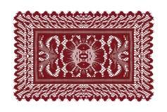 Όμορφο κόκκινο doily Στοκ Φωτογραφίες
