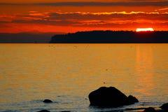 Όμορφο κόκκινο sunet Στοκ εικόνες με δικαίωμα ελεύθερης χρήσης