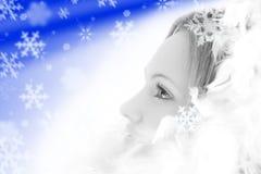 όμορφο λευκό κοριτσιών φτ Στοκ Εικόνα