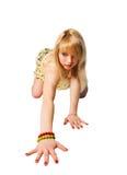όμορφο λευκό κοριτσιών Στοκ Εικόνες
