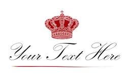 όμορφο λογότυπο κορωνών βασιλικό Στοκ Εικόνα