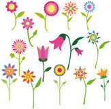 όμορφο λουλούδι συλλ&omicr διανυσματική απεικόνιση