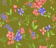 όμορφο λουλούδι σχεδίο Στοκ Εικόνα