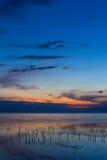 όμορφο λυκόφως θάλασσα&sigma Στοκ Φωτογραφία