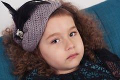 Όμορφο λυπημένο μικρό κορίτσι Στοκ Φωτογραφίες
