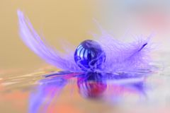 Όμορφο μάρμαρο σε ένα σχέδιο φτερών Στοκ φωτογραφίες με δικαίωμα ελεύθερης χρήσης