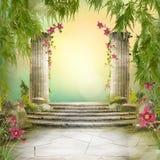 Όμορφο μαγικό τοπίο κήπων, διάθεση παραμυθιού, στοκ εικόνες με δικαίωμα ελεύθερης χρήσης