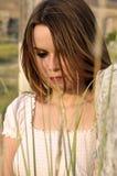 όμορφο μακροχρόνιο μοντέλ&o Στοκ φωτογραφία με δικαίωμα ελεύθερης χρήσης